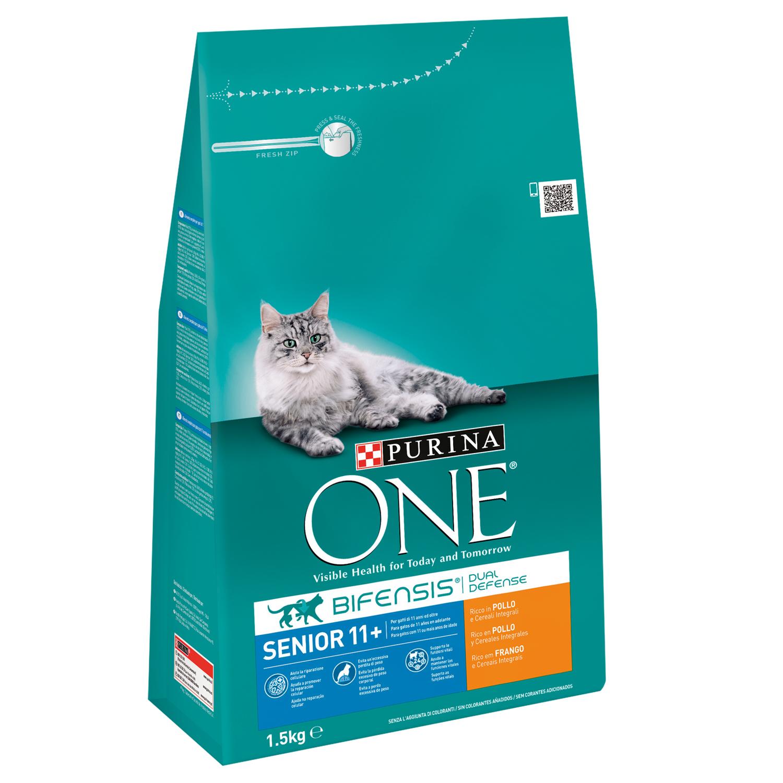 Purina ONE Pienso para Gato Senior +11años 1,5Kg
