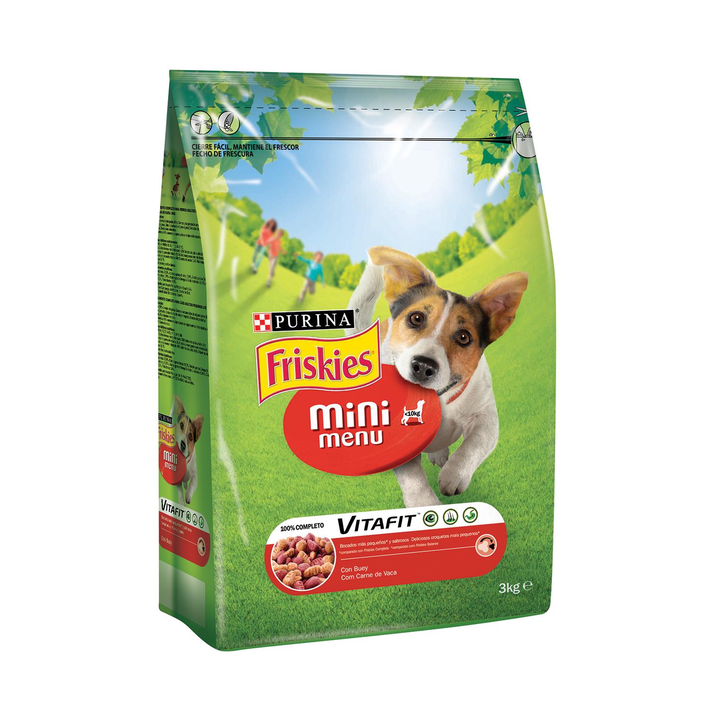 Purina Friskies Vitafit Mini Menu Pienso para Perro Adulto Buey 3Kg