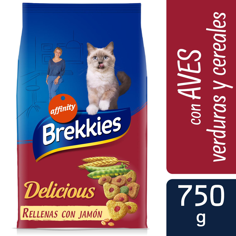 Brekkies Pienso para Gato  Delicious selección de aves y verdura 750 gr