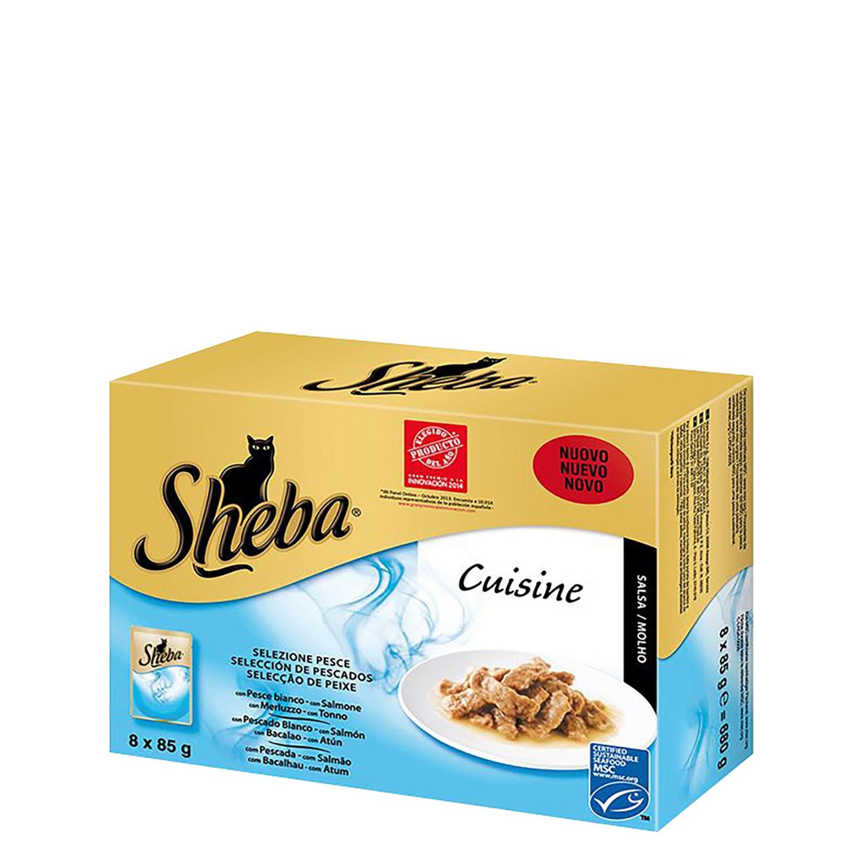 Pack Comida para Gato Sheba Cusine 8 Bolsitas 85 gr -