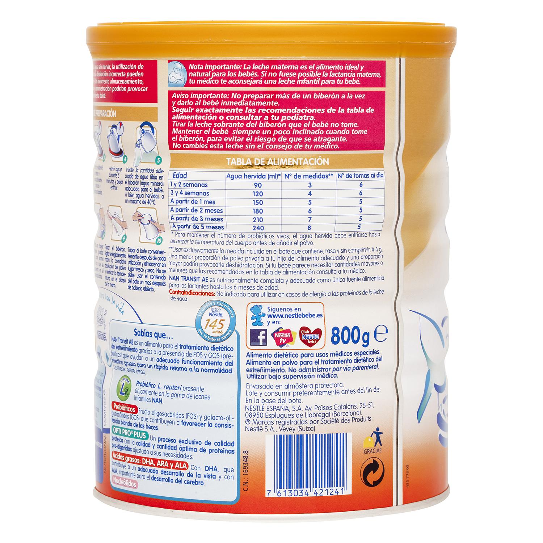 Leche Nan Transit A.E. en polvo Nestlé Nan 800 g. - 3