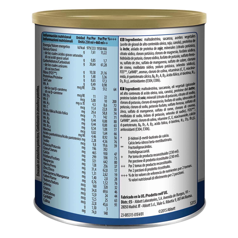 Complemento alimenticio con proteína y vitaminas de vainilla -
