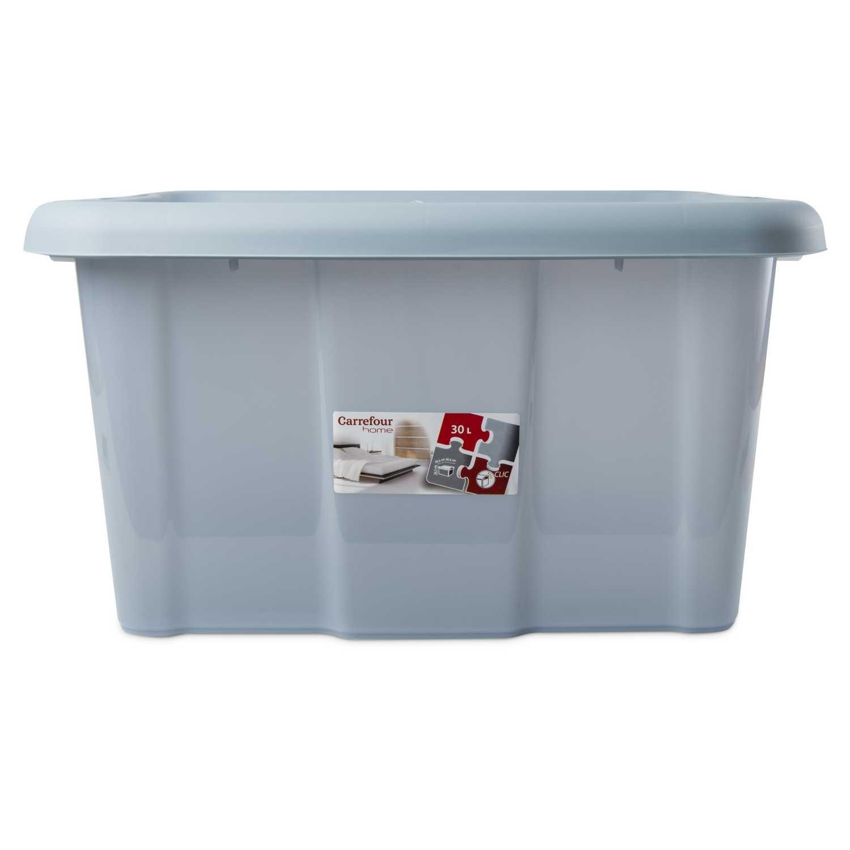 Caja de ordenación  de Plástico Carrefour 49 x 39 x 26 cm - Azul