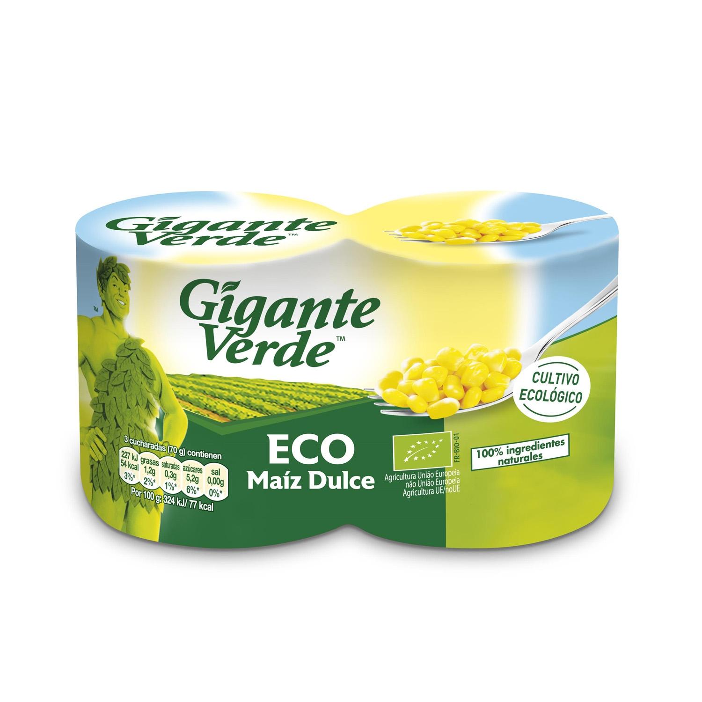 Maíz ecológico Gigante Verde pack de 2 unidades de 140 g.