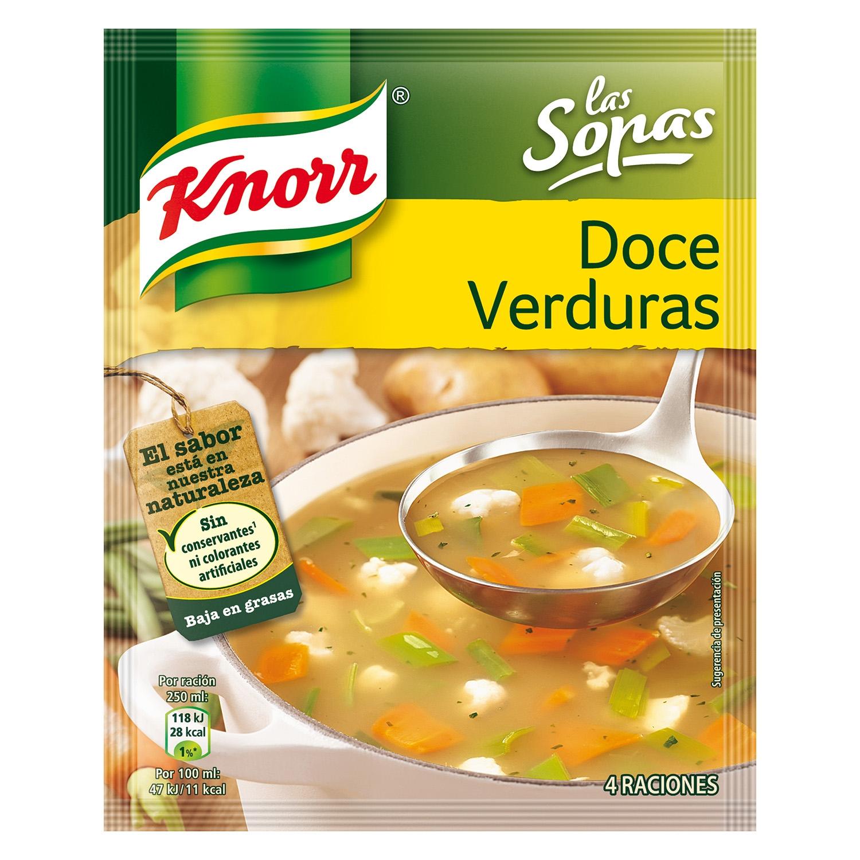 Sopa doce verduras Knorr 41 g.