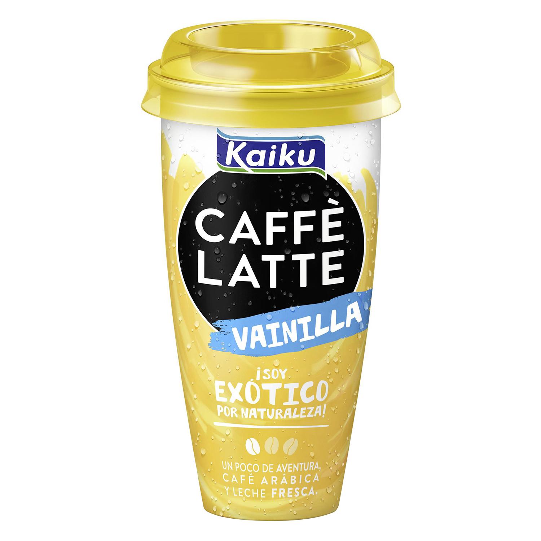 Café latte Kaiku de vainilla 230 ml.