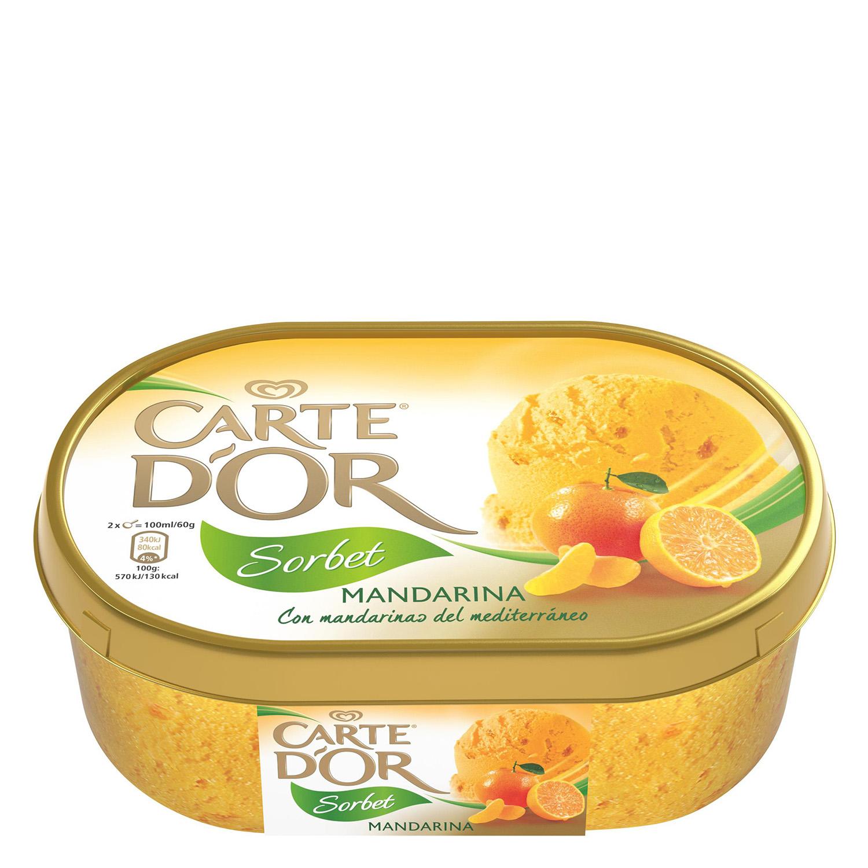 Helado sorbete de mandarina Carte D'or 1000 ml.