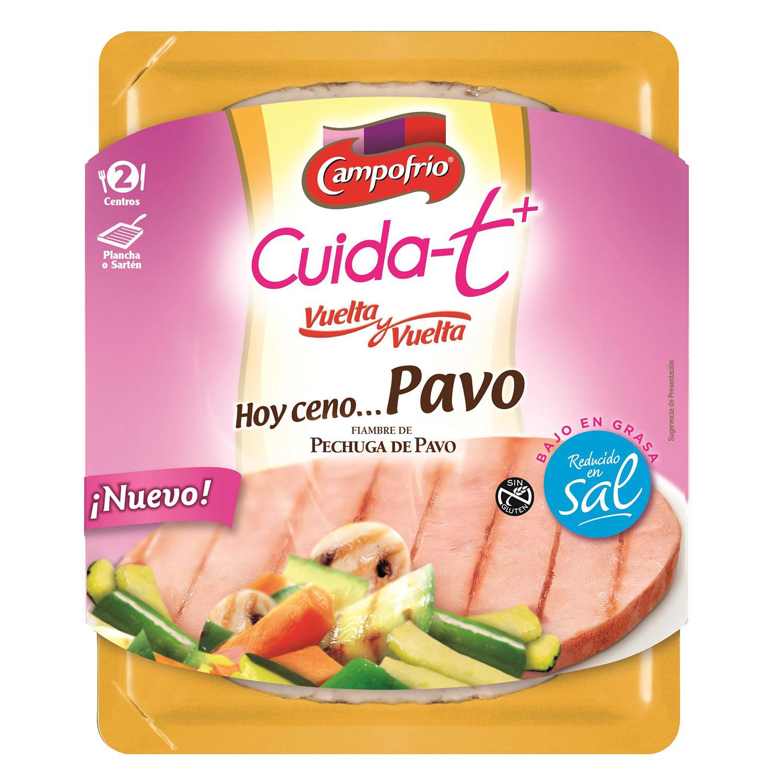 Centros de pavo bajo en sal y en grasa Campofrío - Cuida-t + 190 g,