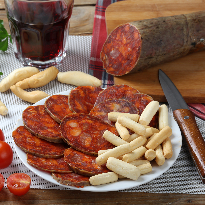 Chorizo primera herradura picante Embutidos Nejosa pieza 375 g aprox  -