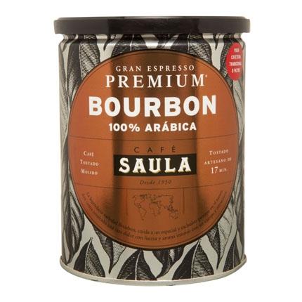 Café molido natural Bourbon Saula 250 g.