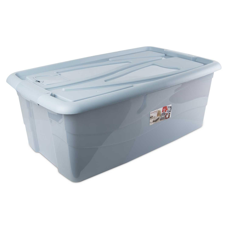 Caja de ordenación  de Plástico Carrefour 75 x 45 x 28 cm - Azul - 2