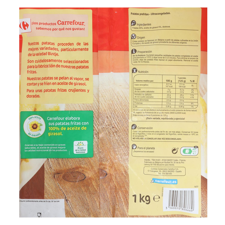 Patatas fritas clásicas Carrefour 1 kg. -