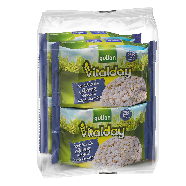 Tortitas de arroz integrales Gullón Vitalday 115,2 g.