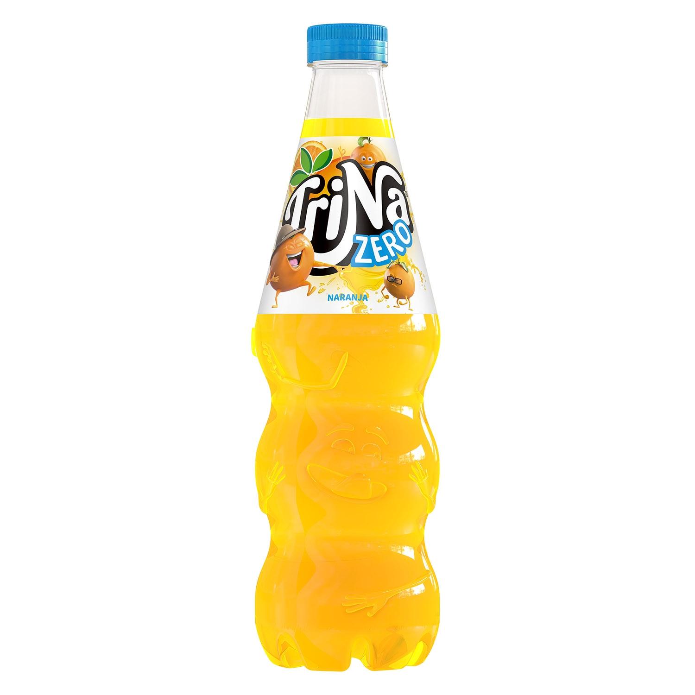 Refresco de naranja Trina zero sin gas botella 1,5 l.