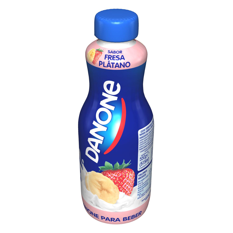 Yogur líquido de fresa y plátano Danone 550 g.