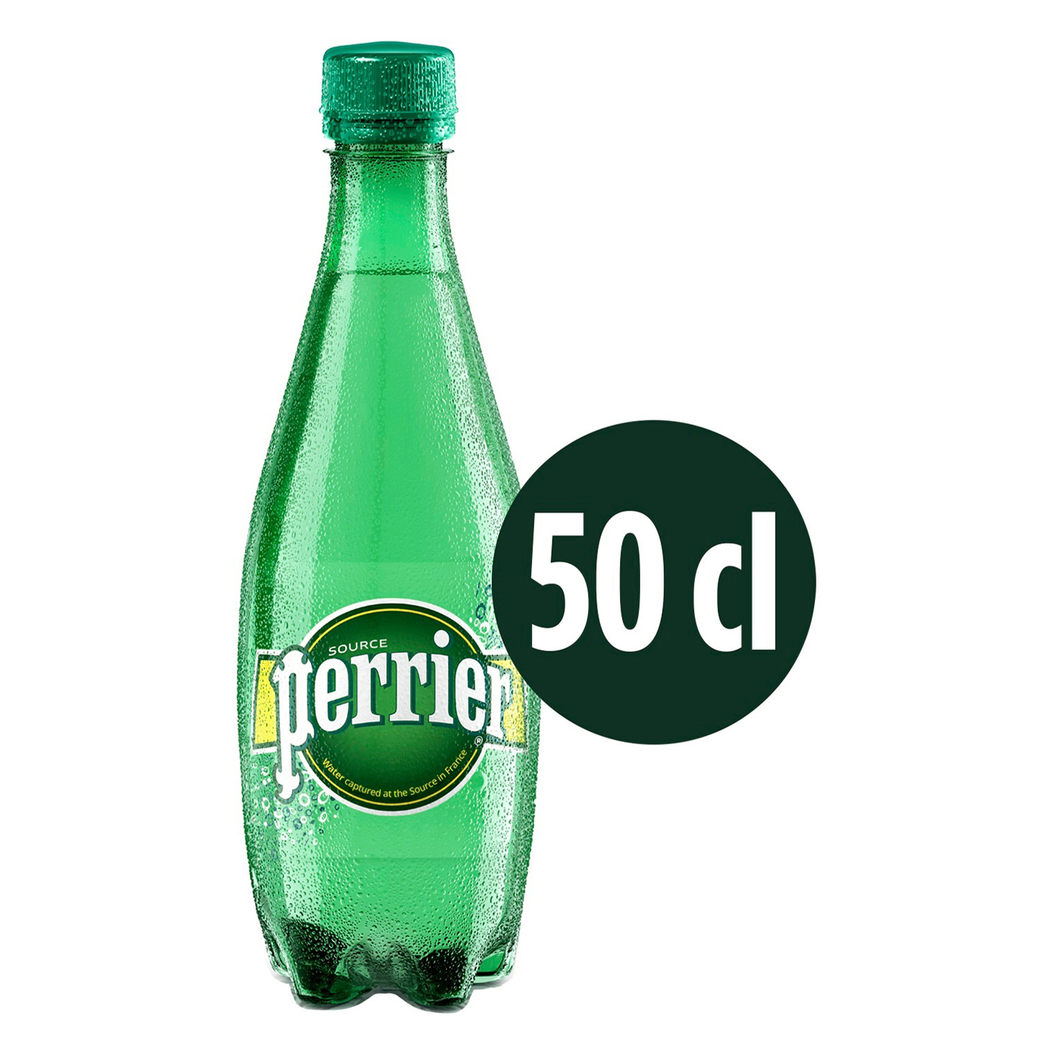 Agua mineral Perrier natural con gas 50 cl. -