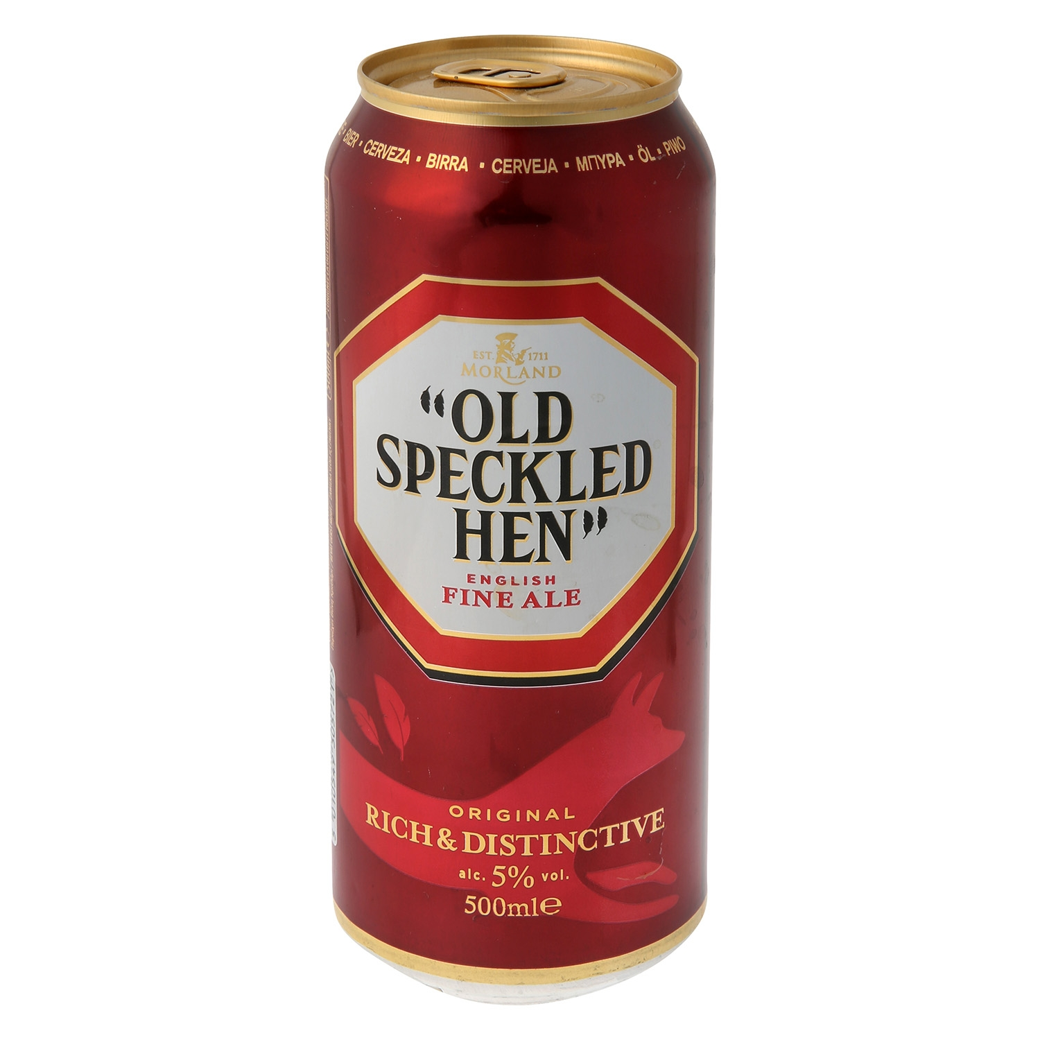 Cerveza Morland Old Speckled Hen English Fine Ale lata 50 cl.