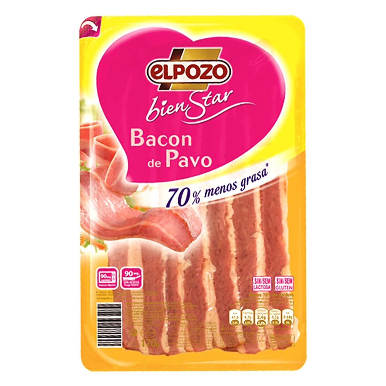 Bacon de pavo en lonchas