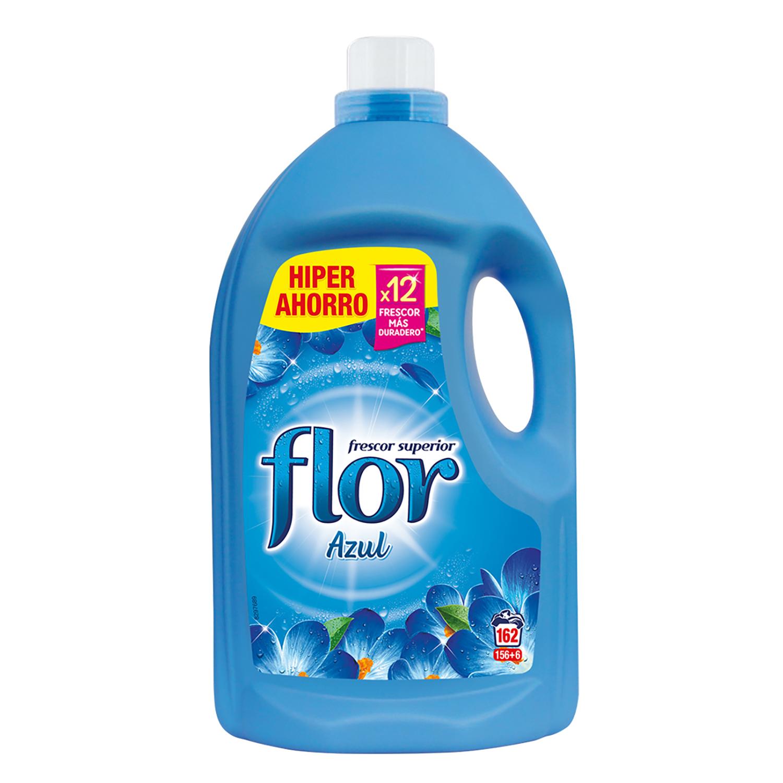 Suavizante concentrado azul Flor 156 lavados.