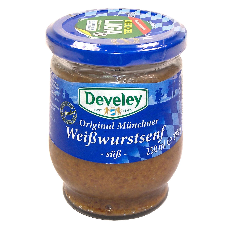 Mostaza dulce Develey tarro 250 ml.
