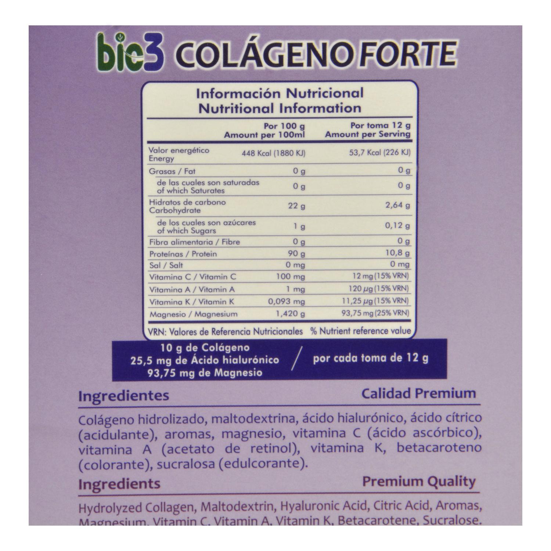 Colágeno forte  Bio3 1 ud. -