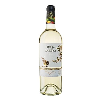 Vino D.O. La Mancha blanco sauvignon blanc Ribera de los Molinos 75 cl.