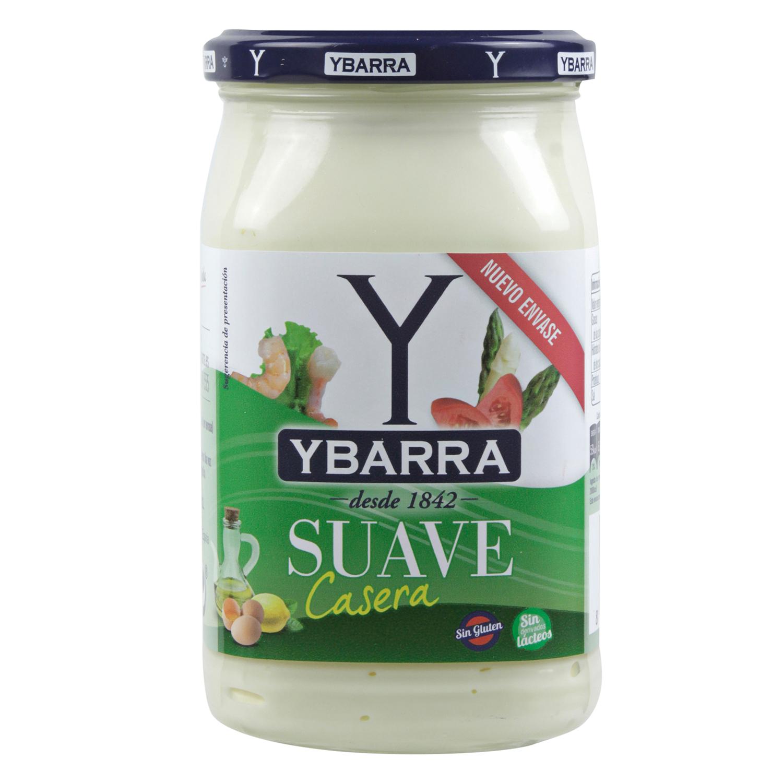 Mayonesa casera suave Ybarra sin gluten sin lactosa tarro 450 g.