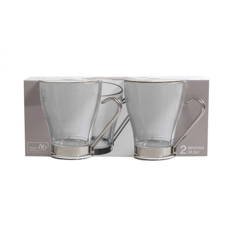 Set de Taza Desayuno de Vidrio Debora 24,5cl Transparente