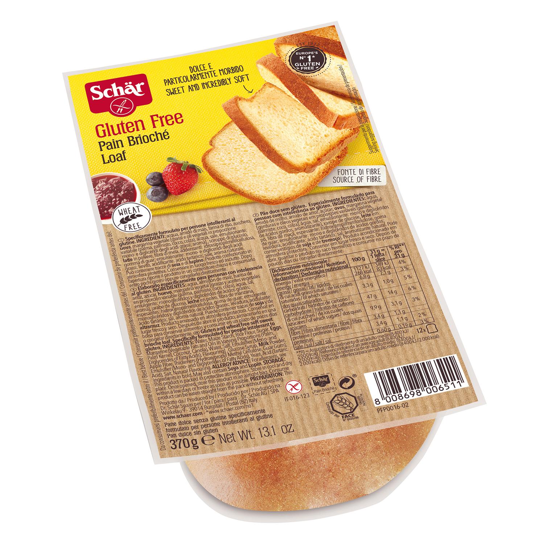 Pain Brioche Schär sin gluten 370 g.