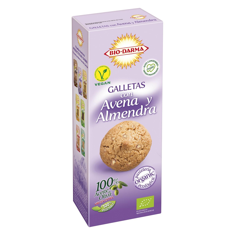 Galletas con avena y almendra ecológicas Bio Darma 130 g.