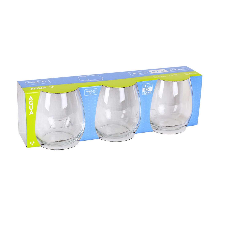 Set de 3 Vaso de Vidrio HOME STYLE Ducale 52cl - Transparente