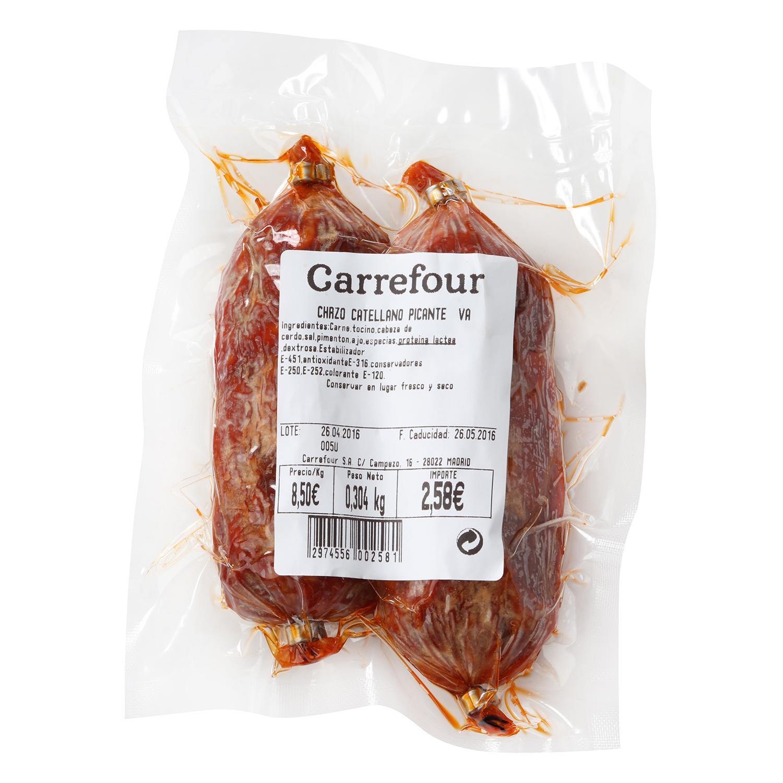 Chorizo castellano picante Ristra Tello al corte 300 g aprox -