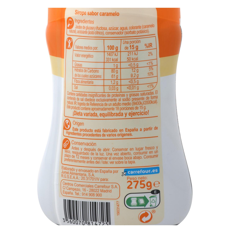 Sirope sabor Carrefour 275 g. -