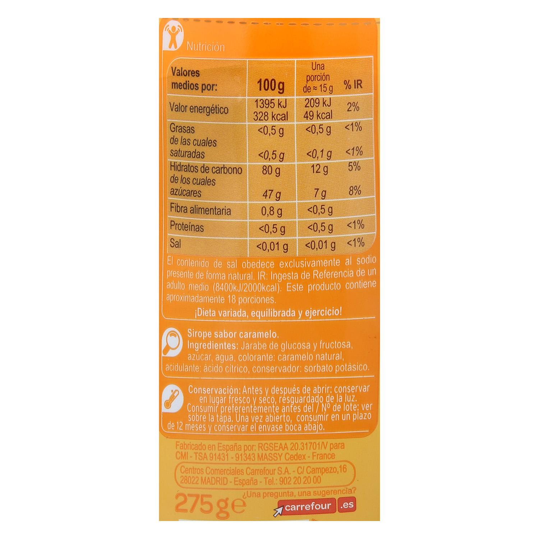 Sirope sabor Carrefour 275 g. - 2