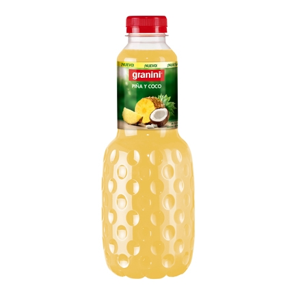 Zumo de piña y coco Granini botella 1 l.