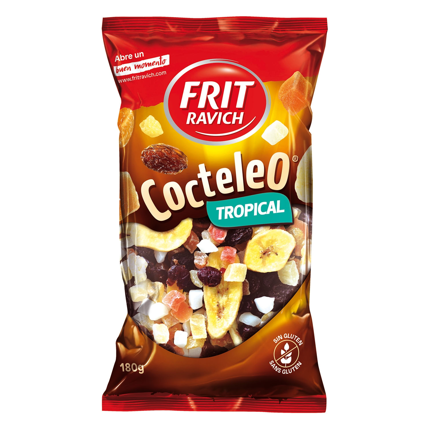 Cocktail  de frutos secos Tropical Frit Ravich sin gluten 180 g.