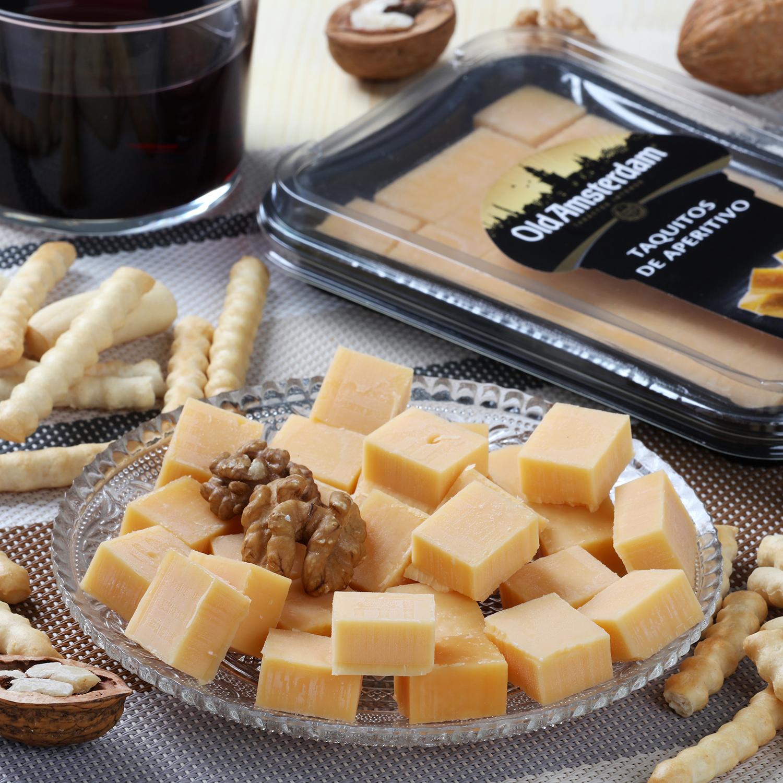 Taquitos de aperitivo de queso gouda -