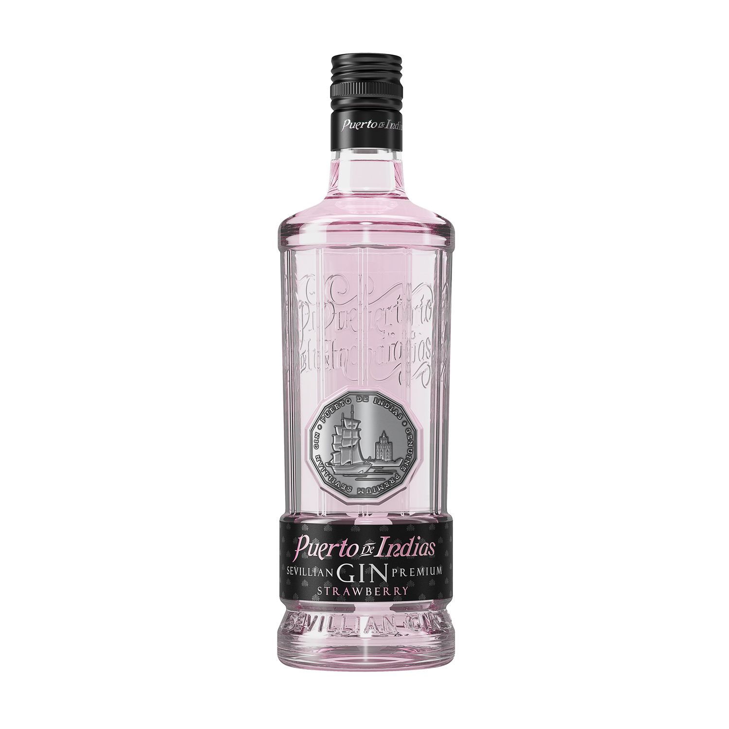 Ginebra Puerto de Indias premium strawberry 70 cl.