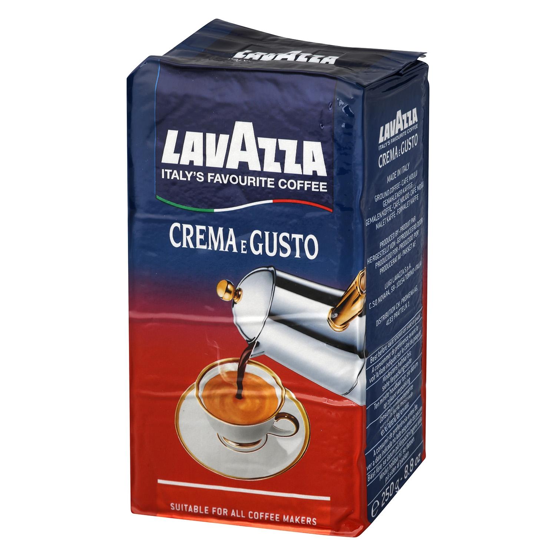 Café molido natural crema e gusto Lavazza 250 g.