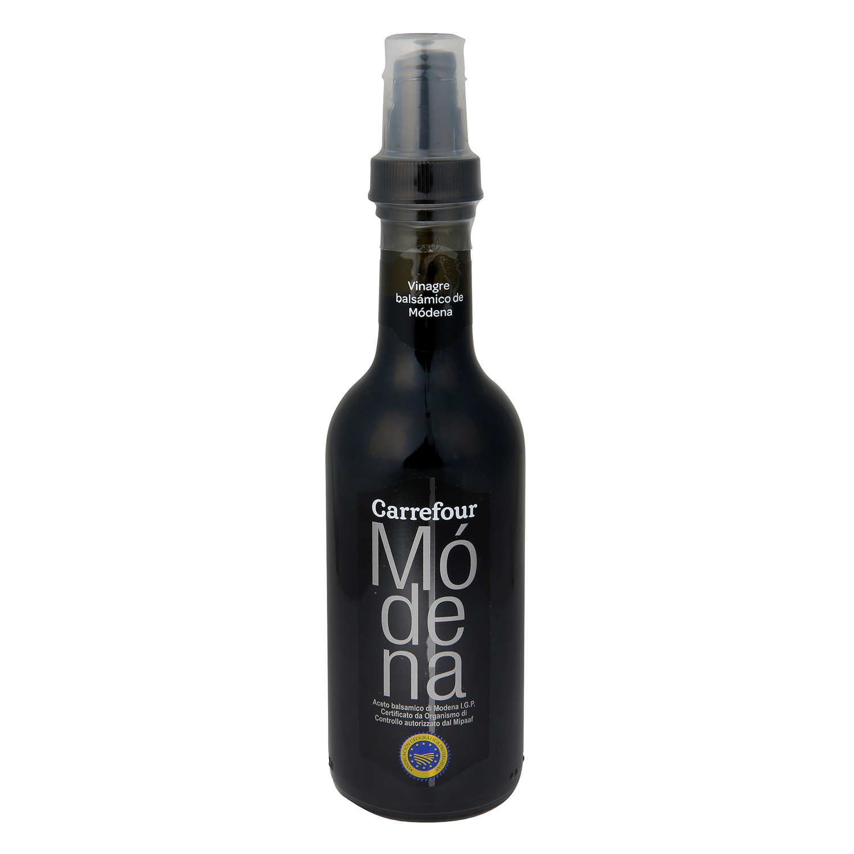 Vinagre balsámico de módena Carrefour spray 250 ml.