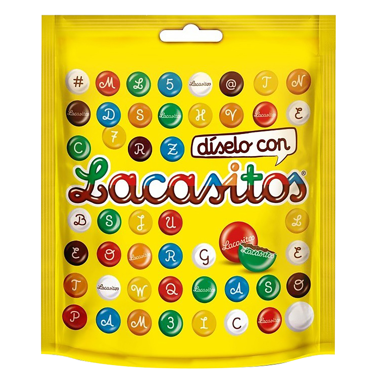 Grageas de chocolate Lacasitos Lacasa sin gluten 190 g.