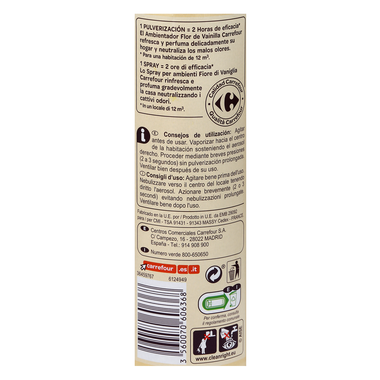 Ambientador vainilla Carrefour 300 ml. -
