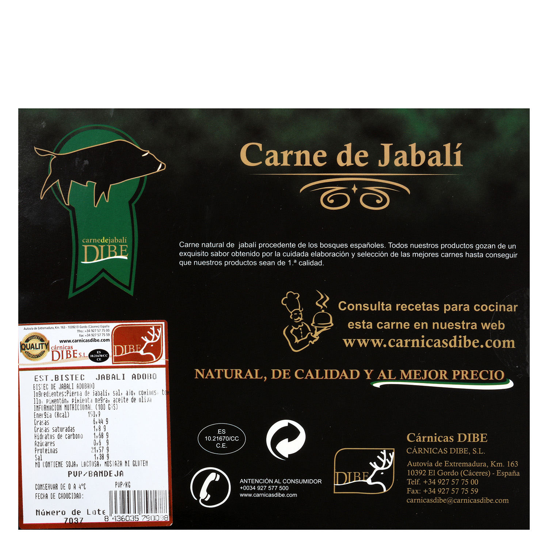 Carne de jabalí en adoblo Cárnicas Dibe 300 g - 2