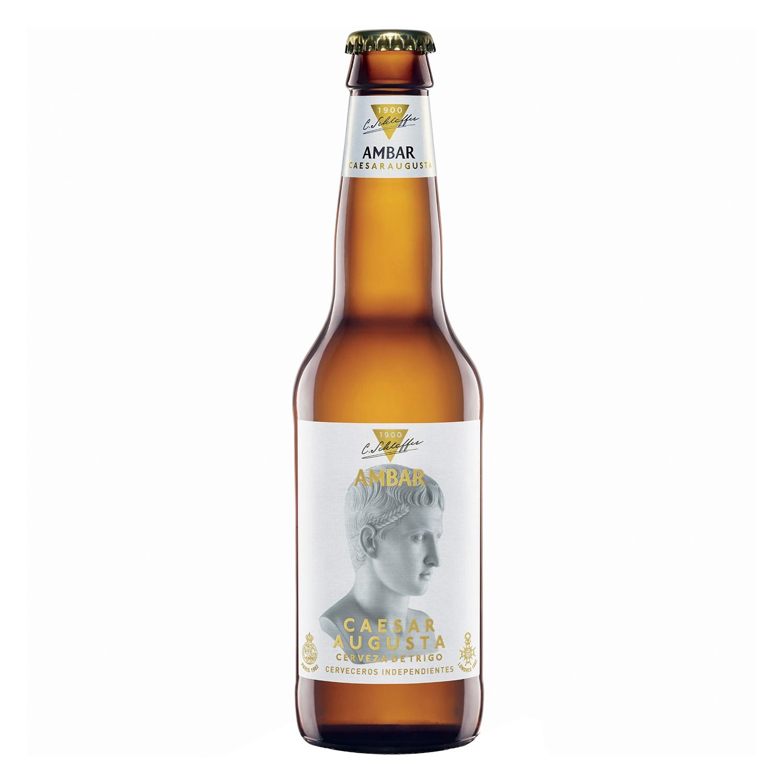 Cerveza Ambar Caesar Augusta trigo botella 33 cl.