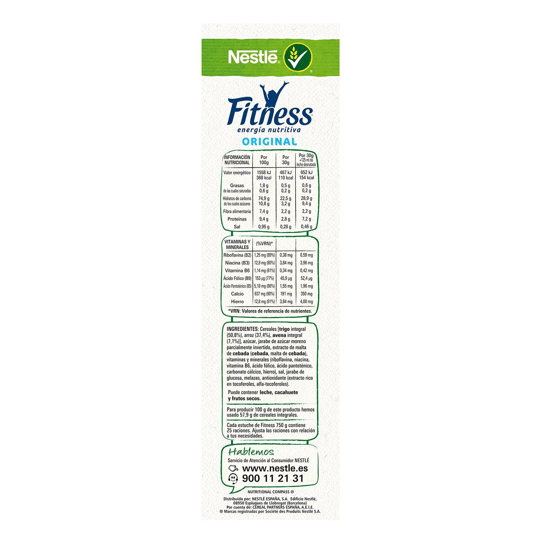 Cereales de avena integral Fitness Nestlé 750 g. -