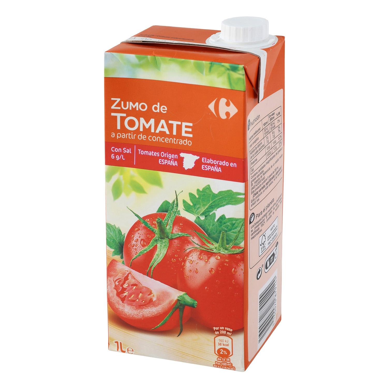 Zumo de tomate Carrefour brik 1 l.