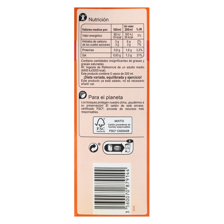 Zumo de tomate Carrefour brik 1 l. -