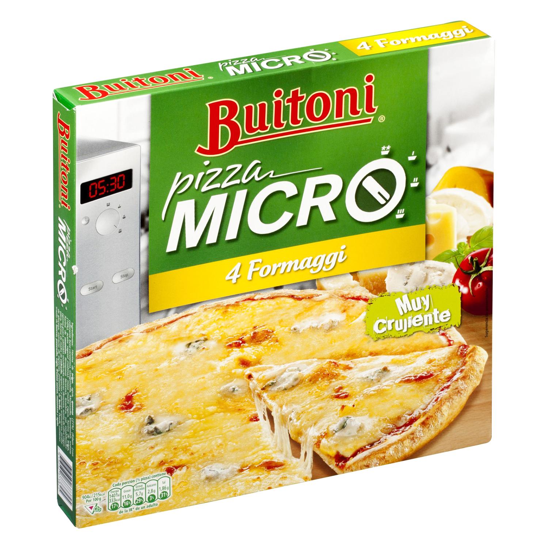 Pizza para microondas crujiente 4 quesos Buitoni - Carrefour ...