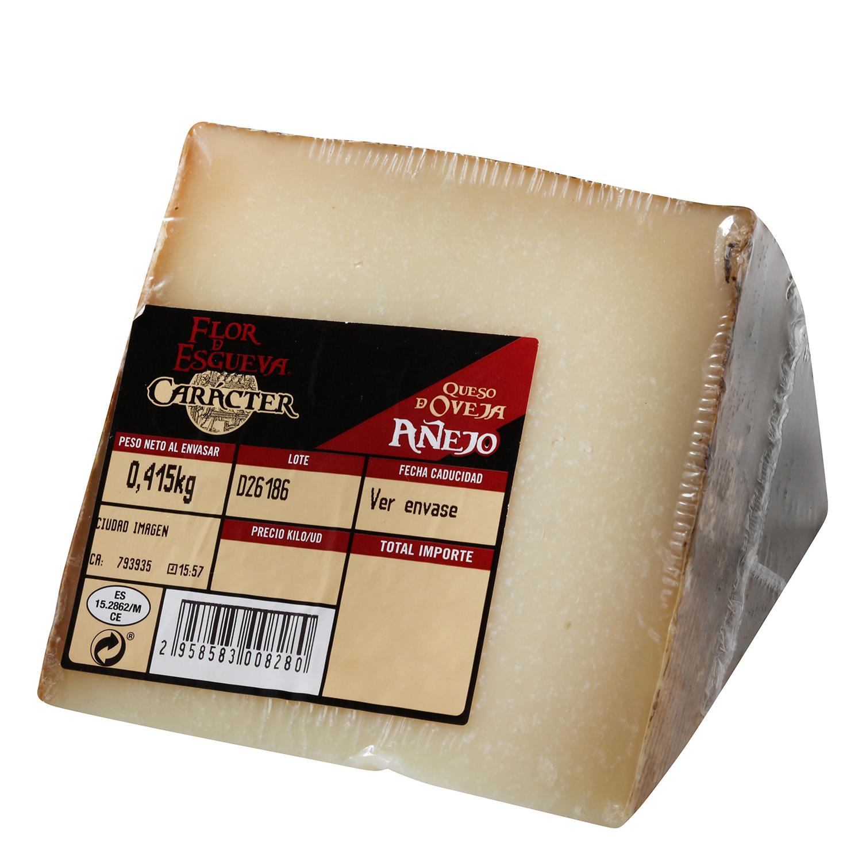 Queso puro de oveja reserva Carácter Flor de Esgueva cuña 1/8, 375 g aprox