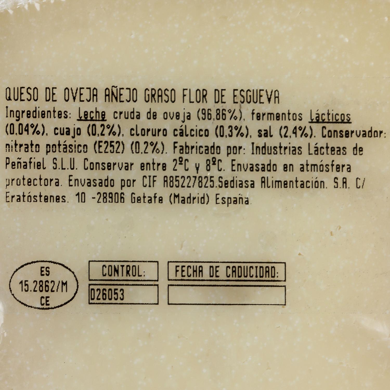 Queso puro de oveja reserva Carácter Flor de Esgueva cuña 1/8, 375 g aprox - 2